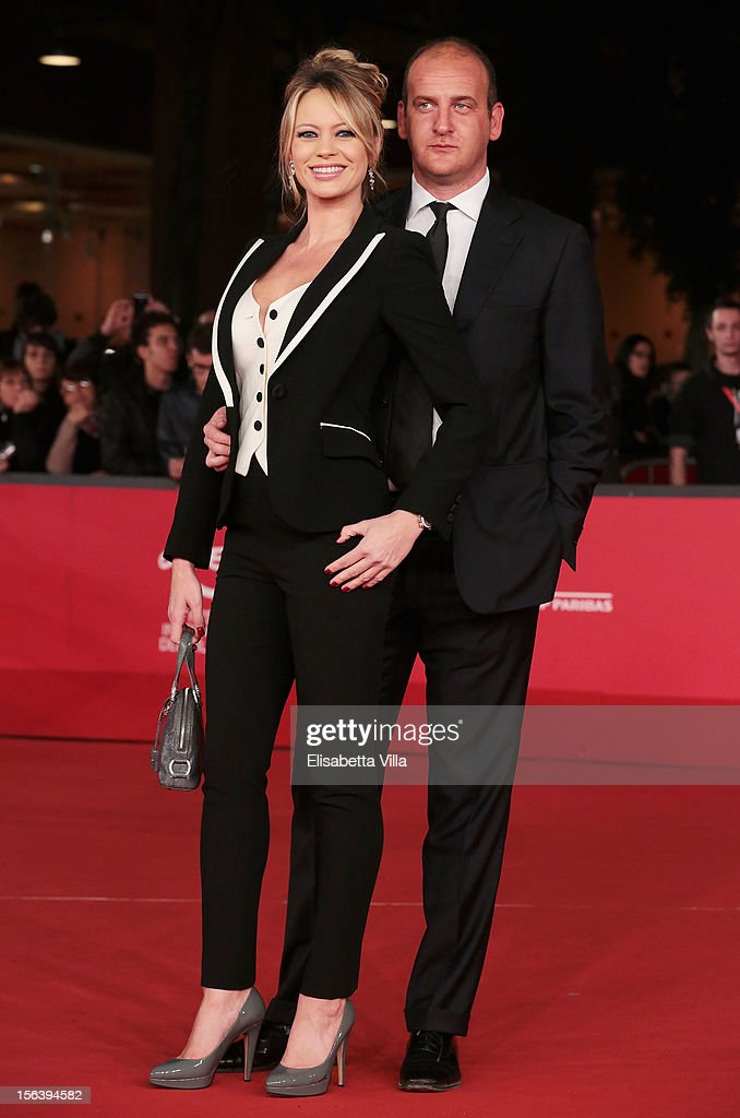 Anna Falchi and Andrea Ruggieri attend the 'E La Chiamano Estate' Premiere during the 7th Rome Film Festival at the Auditorium Parco Della Musica on...