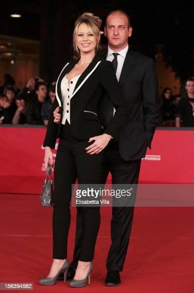 Anna Falchi and Andrea Ruggieri attend the 'E La Chiamano Estate' Premiere during the 7th Rome Film Festival at the Auditorium Parco Della Musica on...