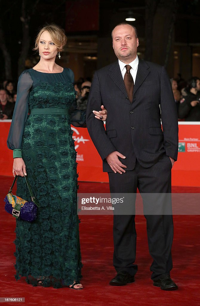 Anna Falchi and her brother Sauro Falchi attend 'Come Il Vento' Premiere during The 8th Rome Film Festival on November 10 2013 in Rome Italy