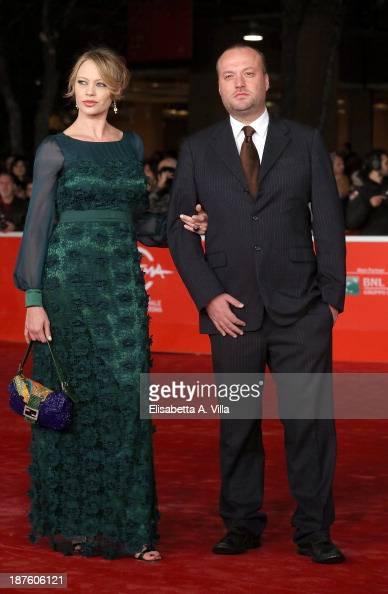 Anna Falchi and her brother Sauro Falchi attend 'Come Il Vento' Premiere during The 8th Rome Film Festival on November 10 2013 in Rome Italy