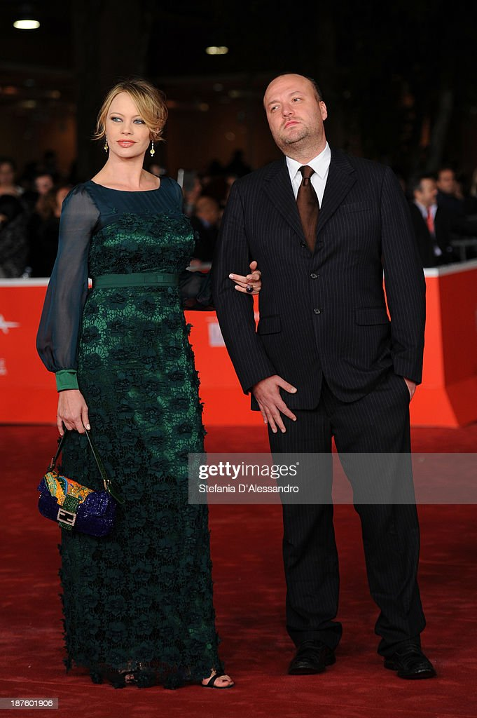 Anna Falchi and her brother Sauro Falchi attends 'Come Il Vento' Premiere during The 8th Rome Film Festival on November 10 2013 in Rome Italy
