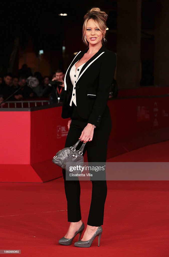 Anna Falchi attend the 'E La Chiamano Estate' Premiere during the 7th Rome Film Festival at the Auditorium Parco Della Musica on November 14 2012 in...