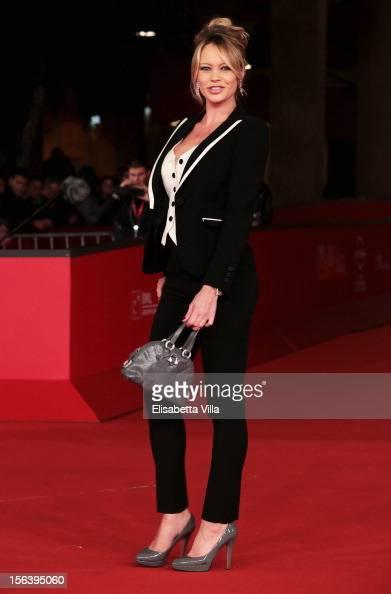 Anna Falchi attend the 'E La Chiamano Estate' Premiere during the 7th Rome Film Festival at the Auditorium Parco Della Musica on November 14 2012 in...