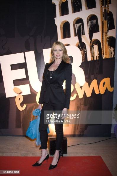 Anna Falchi attends 'EUR Spa' Cocktail Party on March 19 2009 in Rome Italy