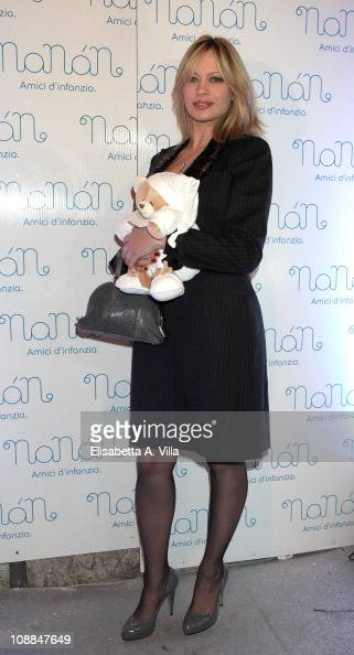 Anna Falchi attends the Nanan Flagship Store Opening on January 27 2011 in Rome Italy