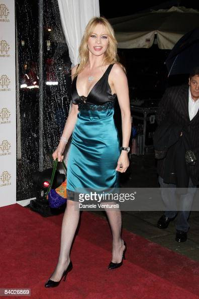 Anna Falchi attends the opening of the world`s first Cavalli Club on December 13 2008 in Florence Italy