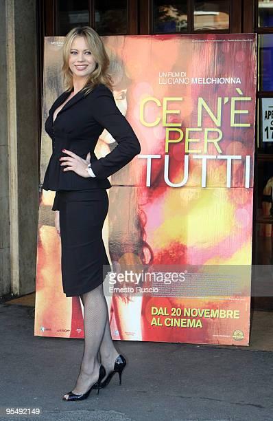 Anna Falchi attends the'Ce N'e Per Tutti' photocall at Embassy Cinema on November 17 2009 in Rome Italy