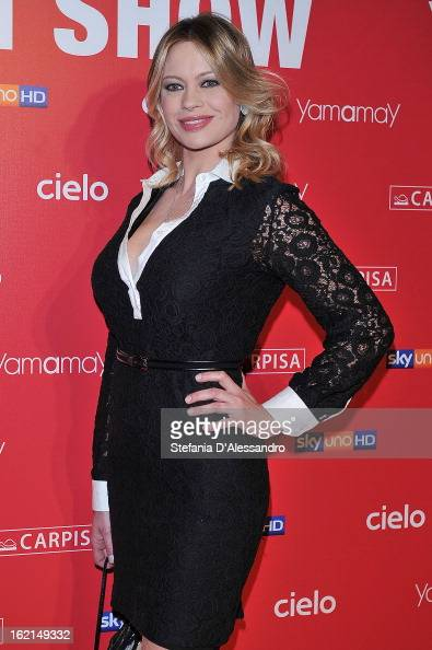 Anna Falchi attends Yamamay Fashion Show cocktail party during Milan Fashion Week Fall/Winter 2013/14 at the Alcatraz on February 19 2013 in Milan...