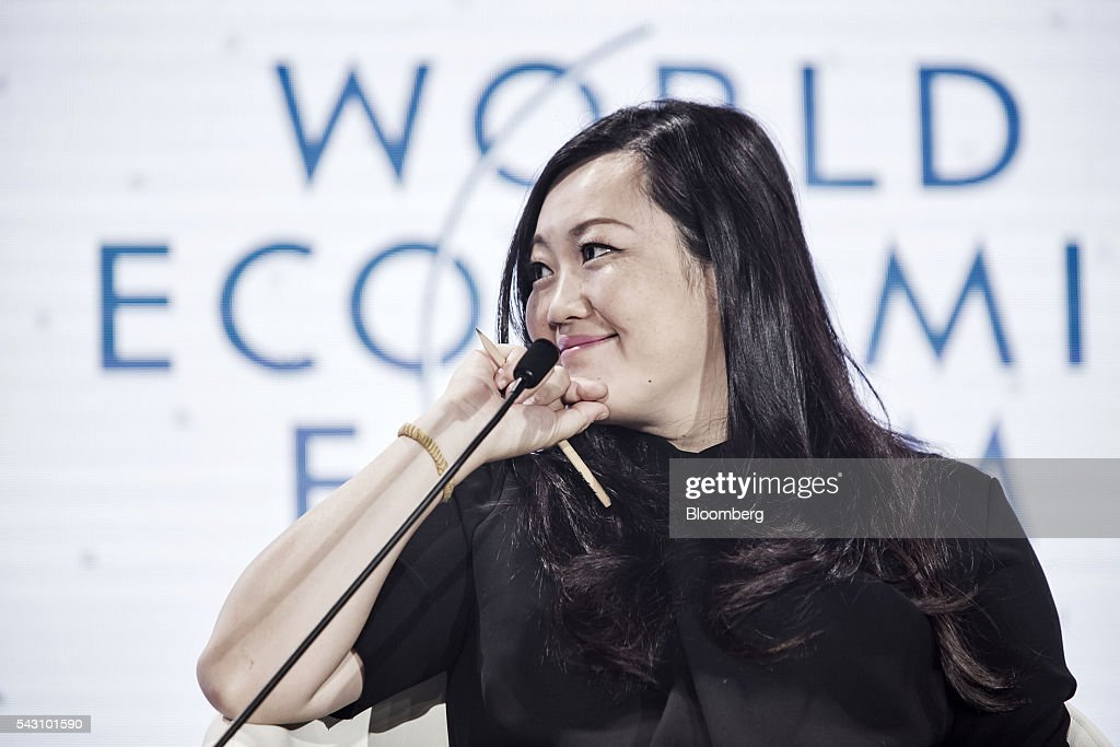 Anna Fang, partner and chief executive officer of ZhenFund, listens during a session at the World Economic Forum (WEF) Annual Meeting of the New Champions in Tianjin, China, on Sunday, June 26, 2016. The meeting runs through June 28. Photographer: Qilai Shen/Bloomberg via Getty Images