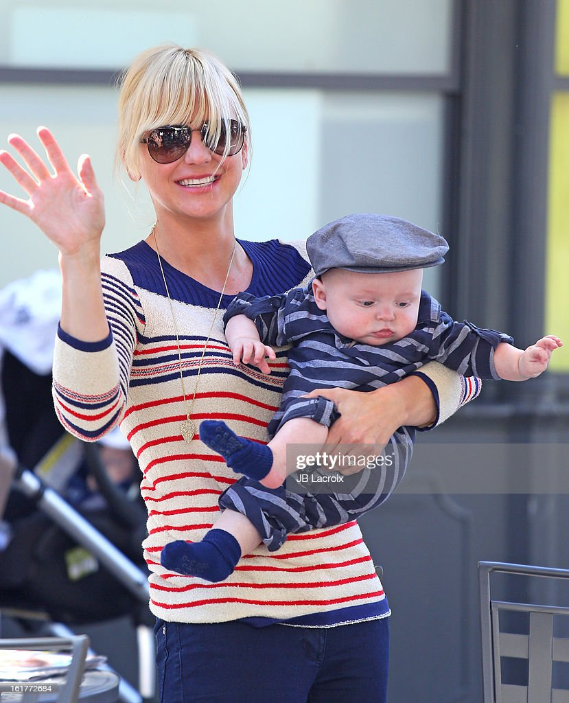 Anna Faris and Jack Pratt are seen at the Grove on February 15 2013 in Los Angeles California