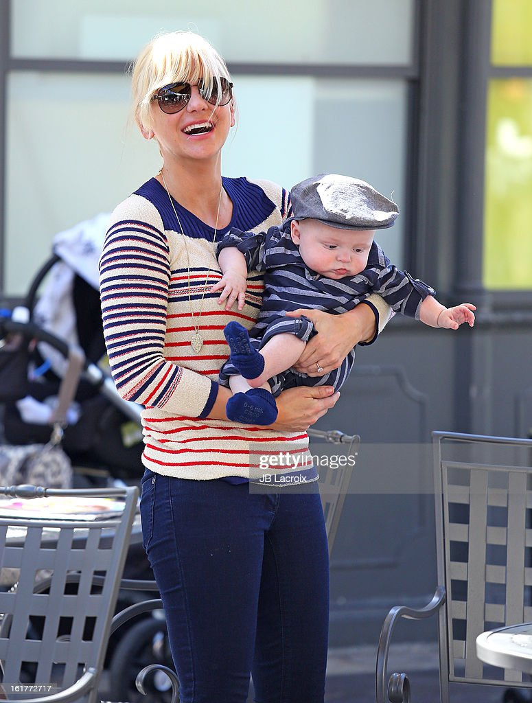 Anna Faris and Jack Pratt are seen at the Grove on February 15, 2013 in Los Angeles, California.