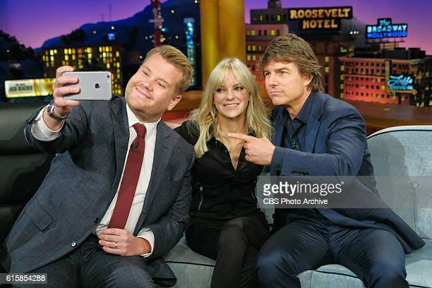 Anna Faris and Tom Cruise chat with James Corden during 'The Late Late Show with James Corden' Wednesday October 19 2016 On The CBS Television Network