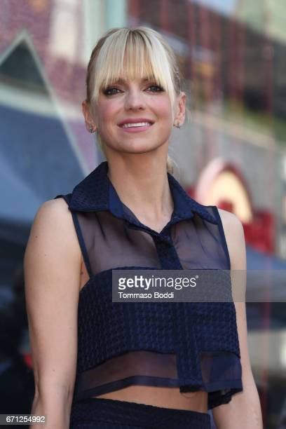 Anna Faris attends a Ceremony Honoring Chris Pratt With Star On The Hollywood Walk Of Fame on April 21 2017 in Hollywood California