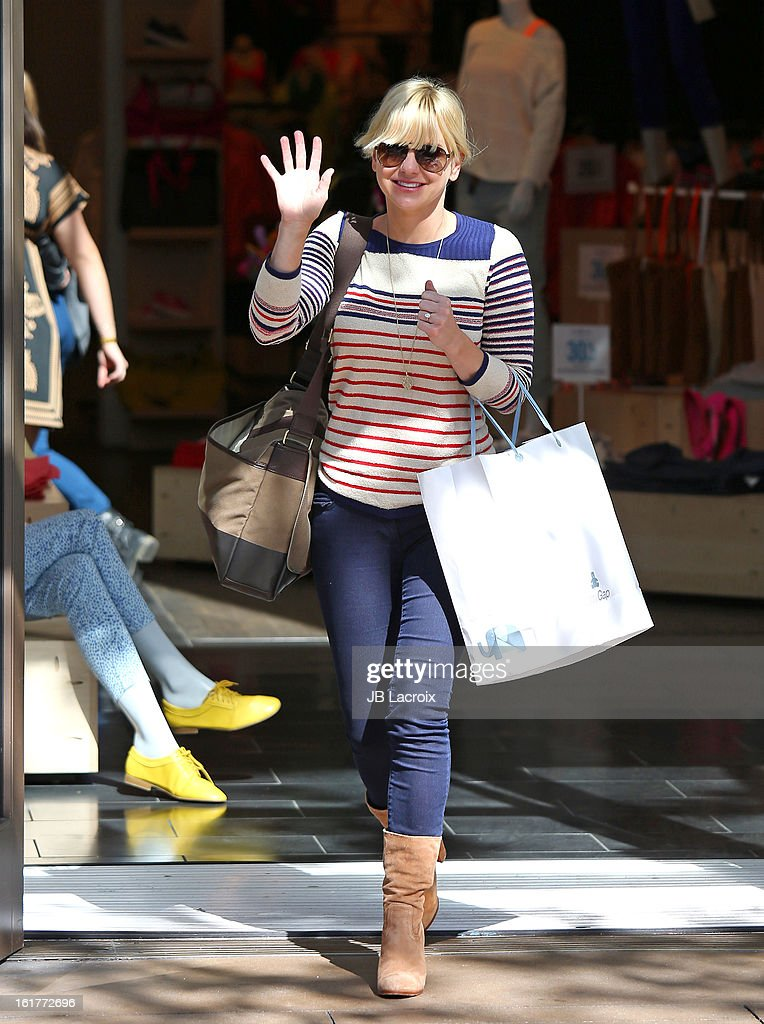 Anna Faris is seen at the Grove on February 15, 2013 in Los Angeles, California.