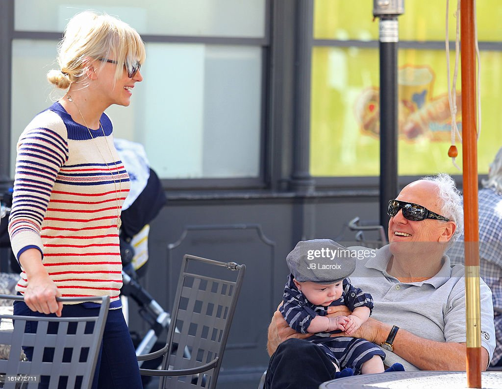 Anna Faris, Jack Pratt and Jack Faris are seen at the Grove on February 15, 2013 in Los Angeles, California.