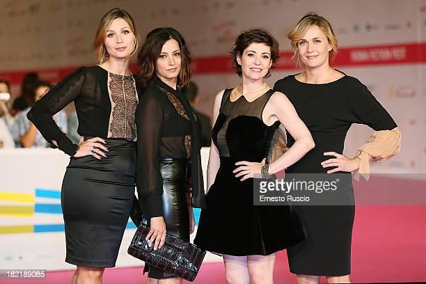 Anna Farzetti Alessia Barela Vanessa Compagnucci and Lucia Mascino attend the 'Una Mamma Imperfetta 2' premiere during the Fiction Fest 2013 on...