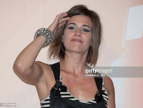 Anna Favella attends a photocall...