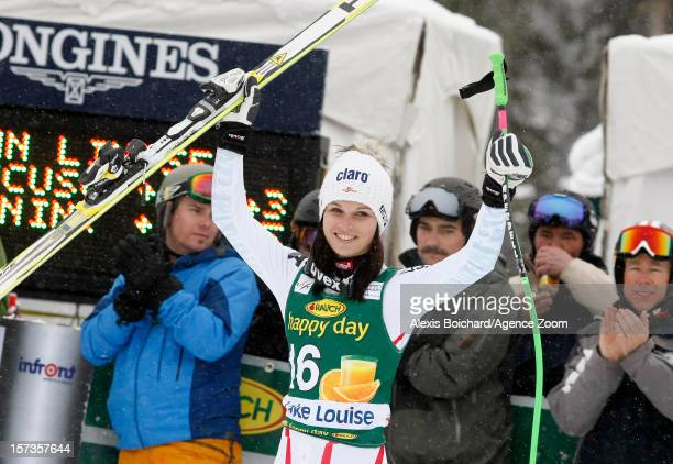 Anna Fenninger of Austria takes 3rd place during the Audi FIS Alpine Ski World Cup Women's SuperG on December 2 2012 in Lake Louise Canada