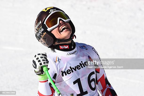 Anna Fenninger of Austria wins the silver medal during the FIS Alpine World Ski Championships Women's Downhill on February 6 2015 in Beaver Creek...