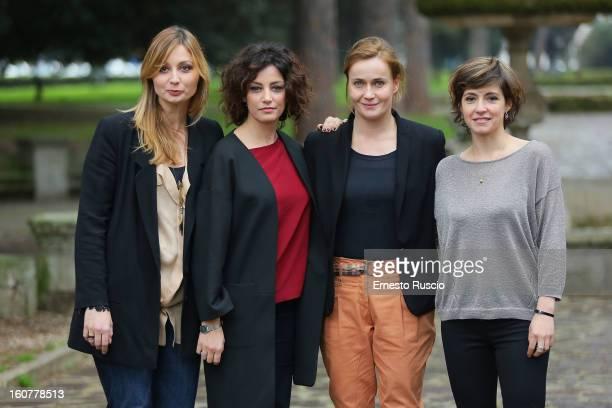 Anna Ferzetti Alessia Barela Lucia Mascino and Vanessa Compagnucci attend the 'Una Mamma Imperfetta' photocall at Tree Bar on February 5 2013 in Rome...
