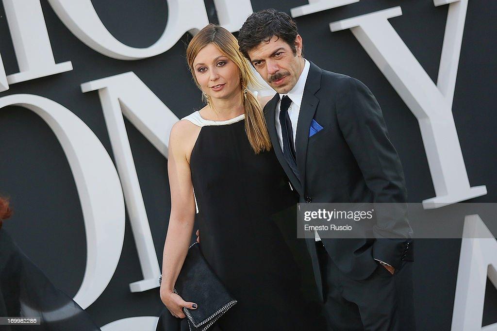 Anna Ferzetti and Pierfrancesco Favino attend 'One Night Only' hosted by Giorgio Armani at Museo Della Civilta Del Lavoro in Roma on June 5, 2013 in Rome, Italy.