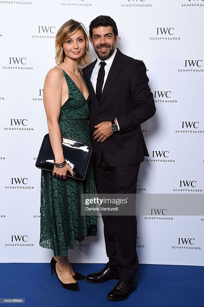 Anna Ferzetti and <a gi-track='captionPersonalityLinkClicked' href=/galleries/search?phrase=Pierfrancesco+Favino&family=editorial&specificpeople=676710 ng-click='$event.stopPropagation()'>Pierfrancesco Favino</a> attends IWC Boutique Opening Dinner on June 28, 2016 in Milan, Italy.