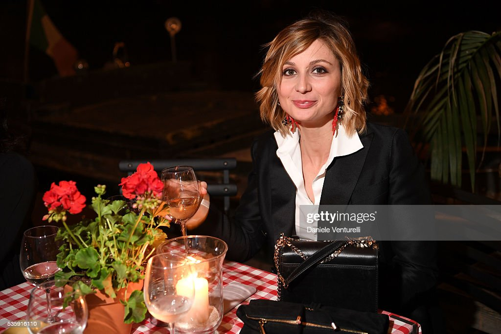 Anna Ferzetti attends Dsquared2 in-store cocktail on May 30, 2016 in Rome, Italy.