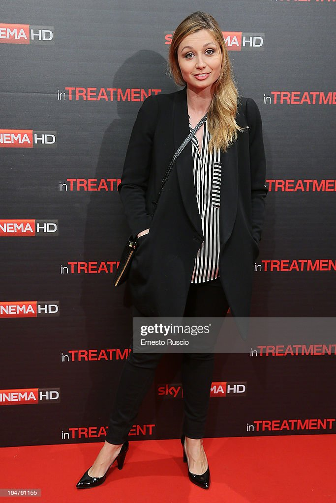 Anna Ferzetti attends the 'In Treatment' premiere at Teatro Capranica on March 27, 2013 in Rome, Italy.