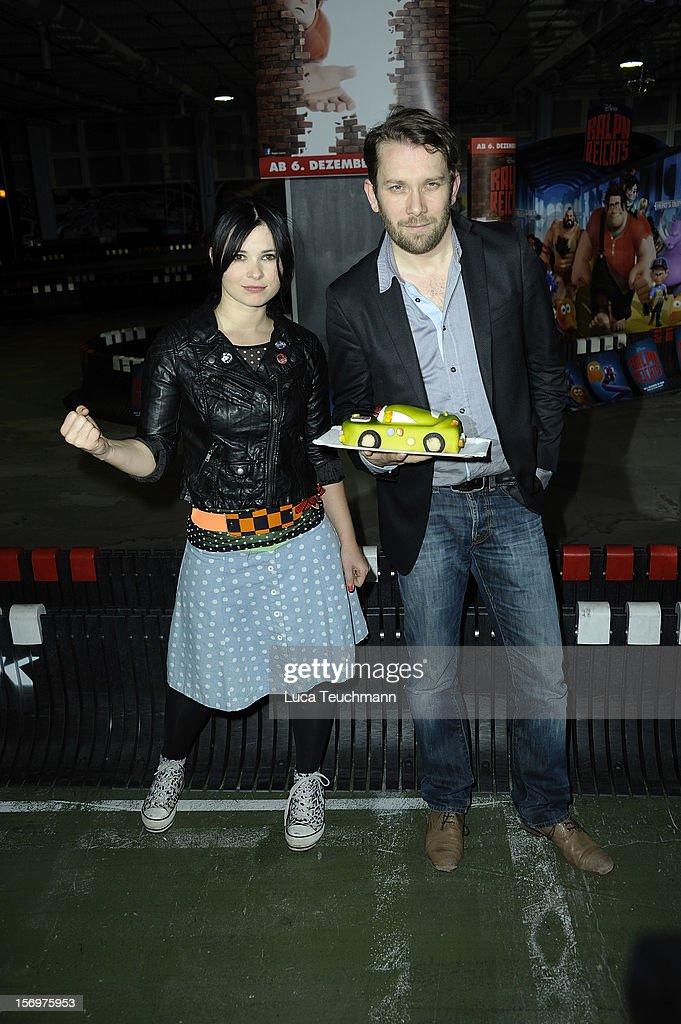 Anna Fischer and Christian Ulmen attends the photocall 'Wreckin Ralph' on November 26, 2012 in Berlin, Germany.