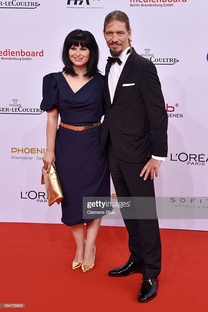 Anna Fischer and her boyfriend Leonard Andreae attend the Lola - German Film Award (Deutscher Filmpreis) on May 27, 2016 in Berlin, Germany.