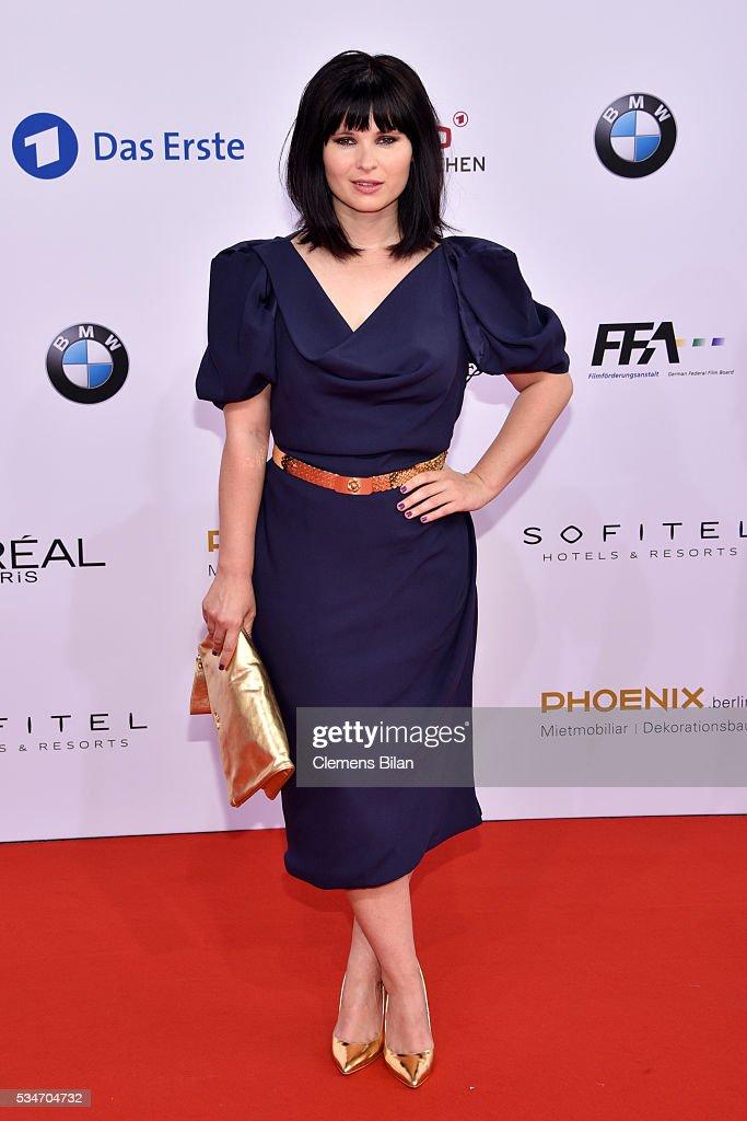 Anna Fischer attends the Lola - German Film Award (Deutscher Filmpreis) on May 27, 2016 in Berlin, Germany.