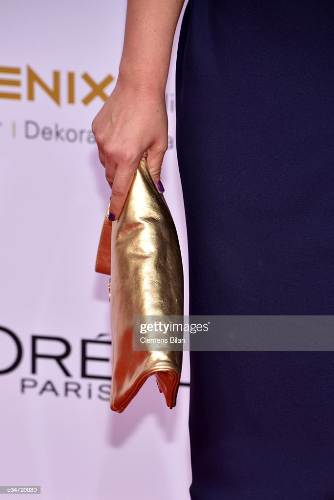 Anna Fischer; bag detail, attends the Lola - German Film Award (Deutscher Filmpreis) on May 27, 2016 in Berlin, Germany.