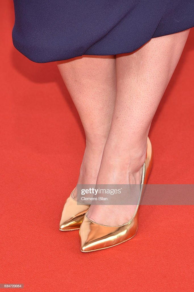 Anna Fischer; shoe detail, attends the Lola - German Film Award (Deutscher Filmpreis) on May 27, 2016 in Berlin, Germany.