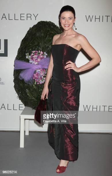 Anna Foglietta attends 'L'Arte Nell'Uovo Di Pasqua' Charity Event at the White Gallery on March 24 2010 in Rome Italy
