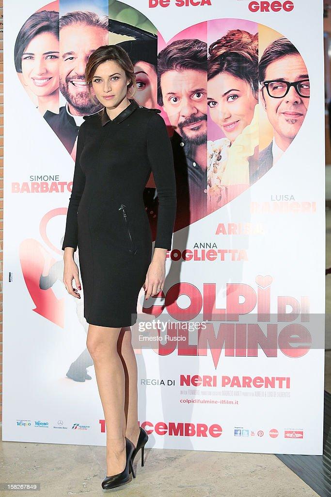 Anna Foglietta attends the 'Colpi di Fulmine' photocall at Auditorium Parco Della Musica on December 12, 2012 in Rome, Italy.