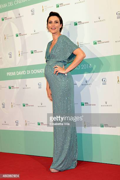 Anna Foglietta attends the David Di Donatello Awards Ceremony at the Dear Studios on June 10 2014 in Rome Italy