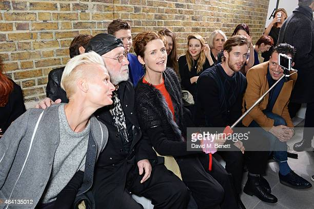 Anna Freemantle Albert Watson Stella Tennant Luke Treadaway and Robert Montgomery attend the Pringle of Scotland Fully Fashioned Exhibition and...
