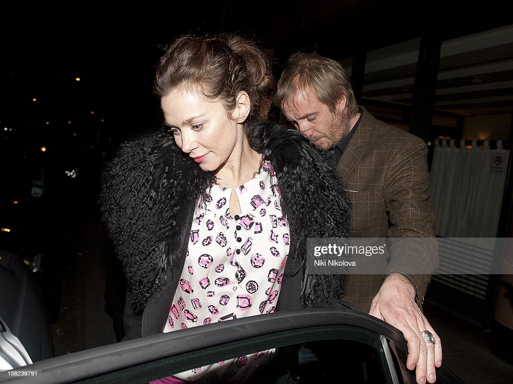 Anna Freil and <a gi-track='captionPersonalityLinkClicked' href=/galleries/search?phrase=Rhys+Ifans&family=editorial&specificpeople=204530 ng-click='$event.stopPropagation()'>Rhys Ifans</a> sighting on December 11, 2012 in London, England.