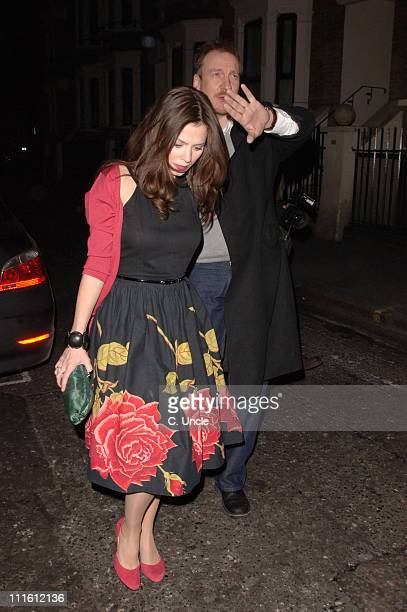Anna Friel and David Thewlis during Anna Friel Sighting at The Ivy in London February 1 2006 at The Ivy in London Great Britain
