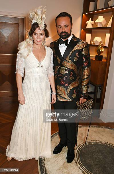 Anna Friel and Evgeny Lebedev attend a VIP dinner to celebrate The Animal Ball 2016 presented by Elephant Family at The Arts Club on November 22 2016...