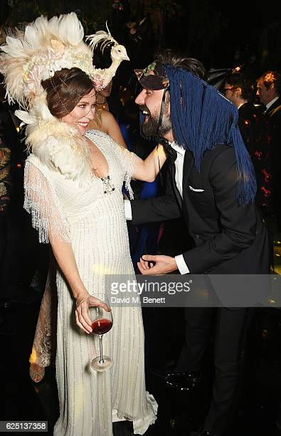 Anna Friel and Jack Guinness attend The Animal Ball 2016 presented by Elephant Family at Victoria House on November 22 2016 in London England