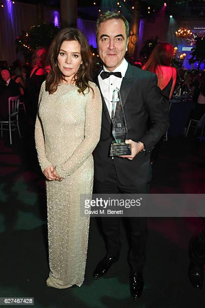 Anna Friel and James Nesbitt winner of the Contribution to the Irish Cultural Life in the UK award attend The Ireland Fund Of Great Britain's 'The...