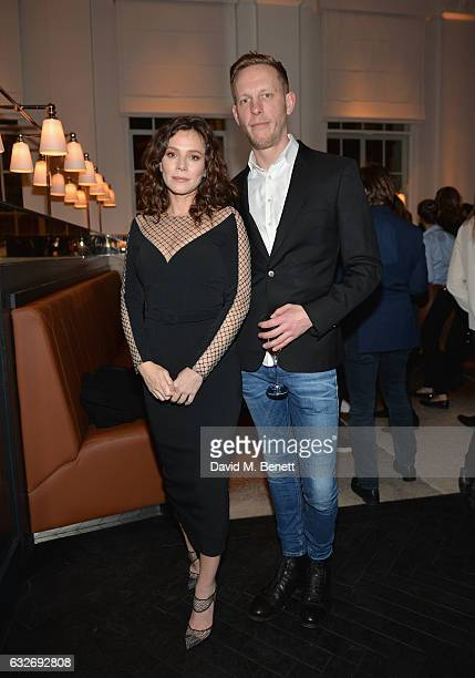 Anna Friel and Laurence Fox attend the launch of La Dame de Pic London the new restaurant from Chef AnneSophie Pic at Four Seasons Hotel London at...