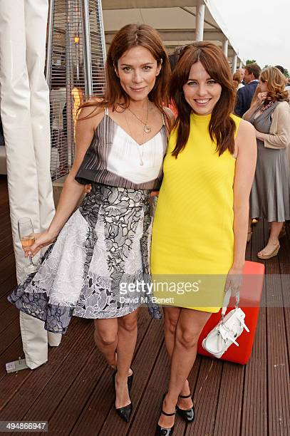 Anna Friel and Ophelia Lovibond attend day one of the Audi Polo Challenge at Coworth Park Polo Club on May 31 2014 in Ascot England