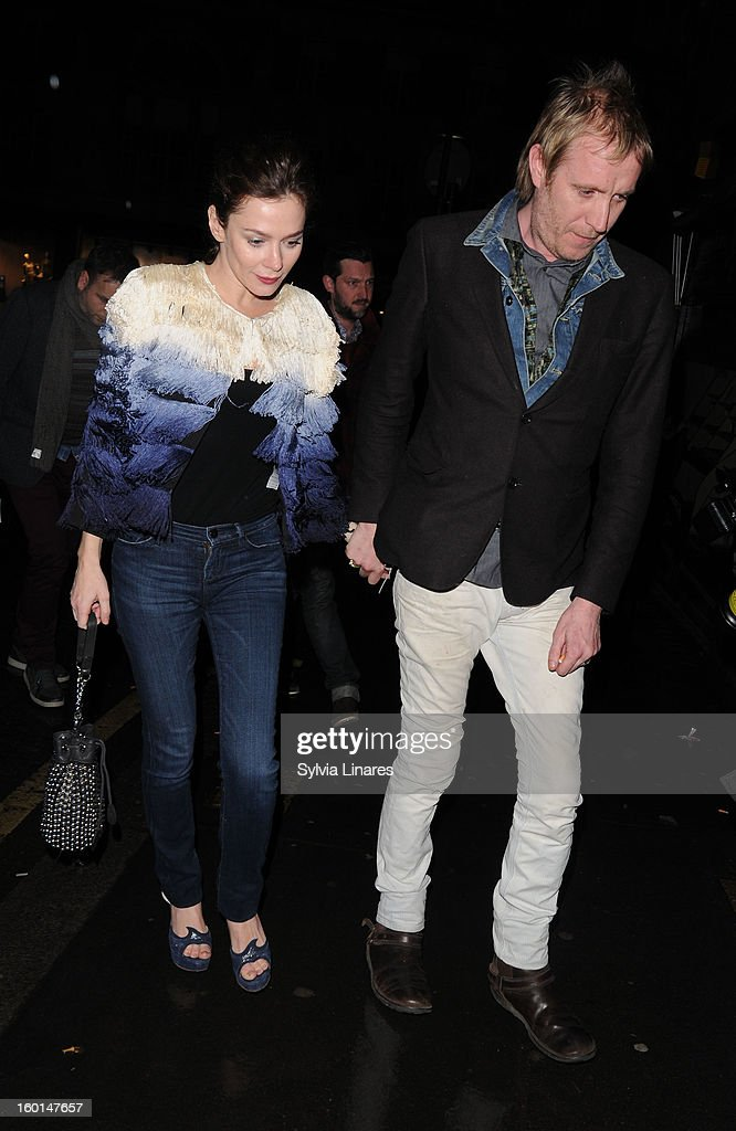 Anna Friel and Rhys Ifans arriving at Bedford & Strand Bar Restaurant on January 26, 2013 in London, England.