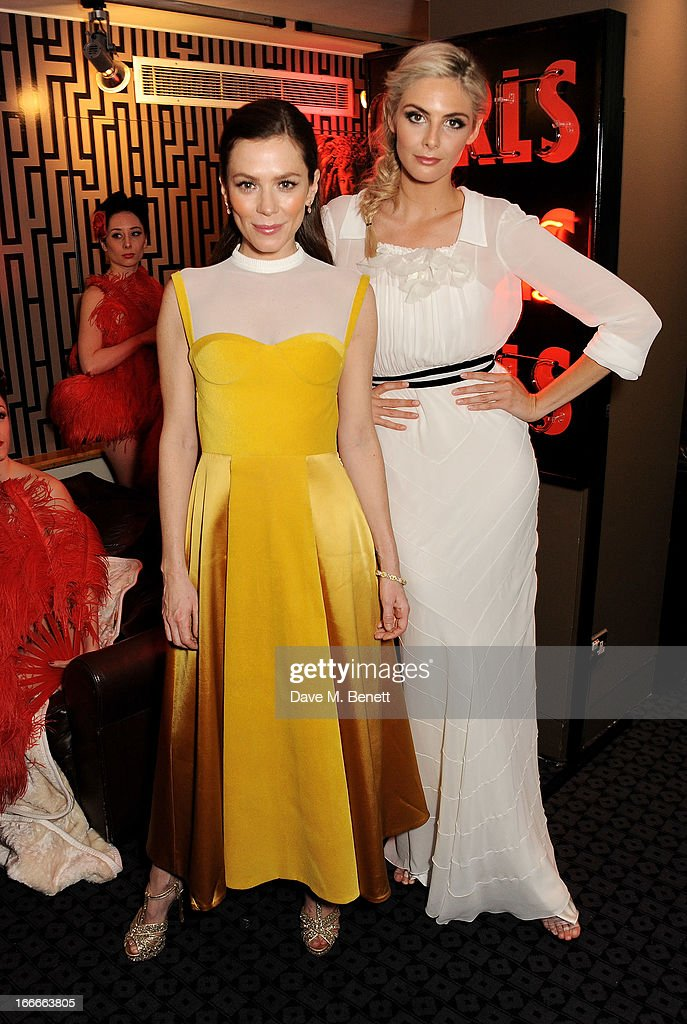 Anna Friel and Tamsin Egerton attend the UK Premiere of 'The Look Of Love' at the Curzon Soho on April 15 2013 in London England