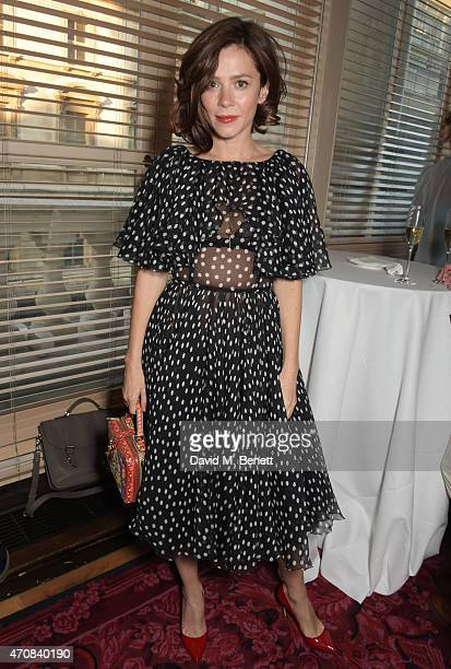 Anna Friel attends as Audi hosts the opening night performance of 'La Fille Mal Gardee' at The Royal Opera House on April 23 2015 in London England