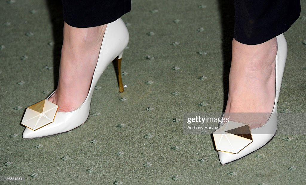 Anna Friel (Shoe Detail) attends InStyle magazine's The Best of British Talent pre-BAFTA party at Dartmouth House on February 4, 2014 in London, England.