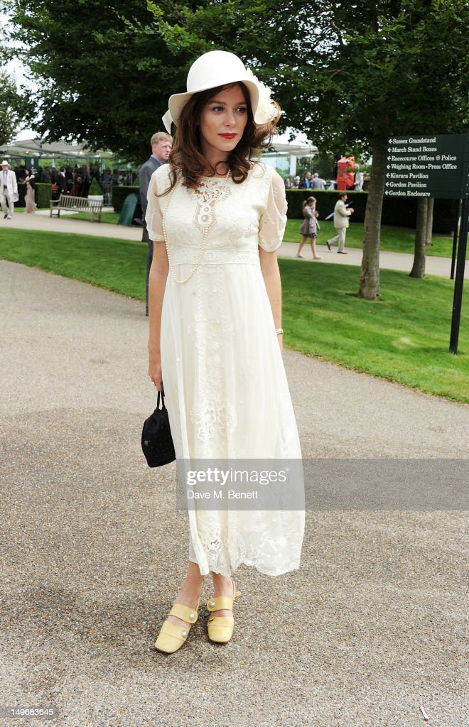 Anna Friel attends Ladies Day at Glorious Goodwood held at Goodwood Racecourse on August 2, 2012 in Chichester, England.
