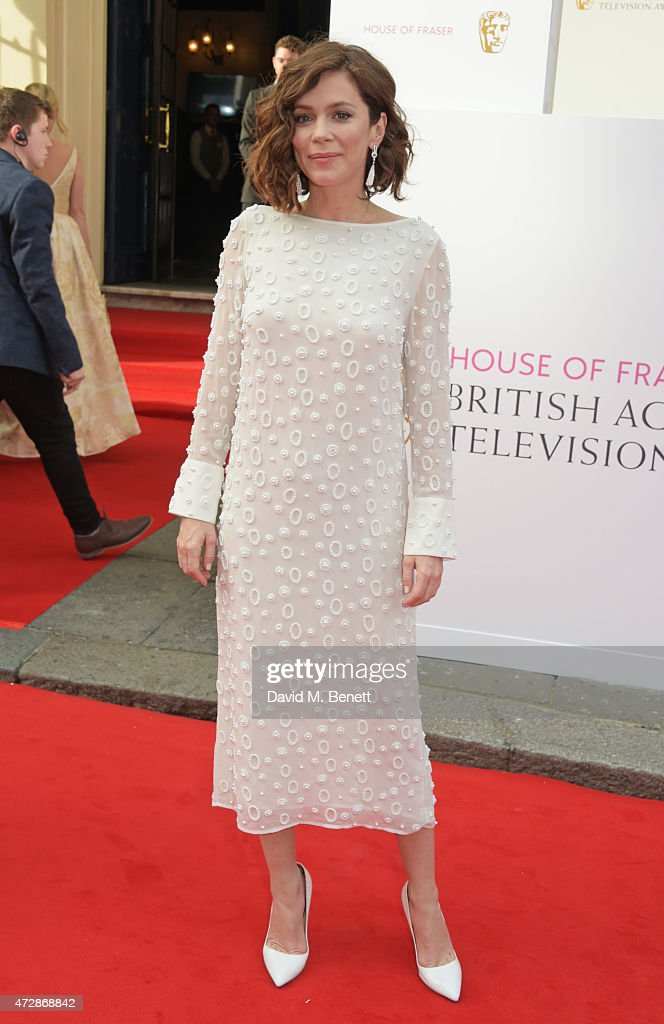 Anna friel attends the house of fraser british academy television
